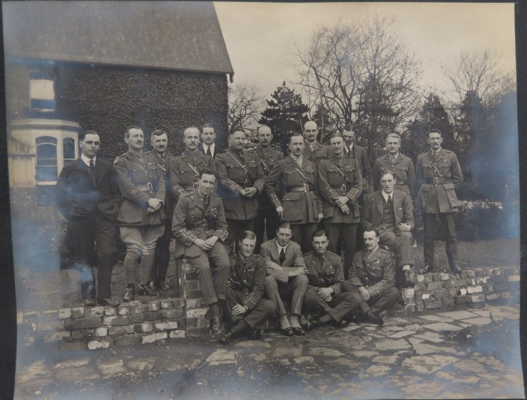 Henry Grey Faber and the 5th battalion 1919.