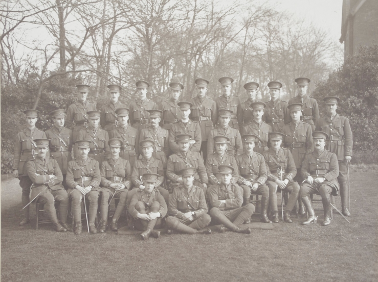 Officers of the 5th Battalion of The Durham Light Infantry.