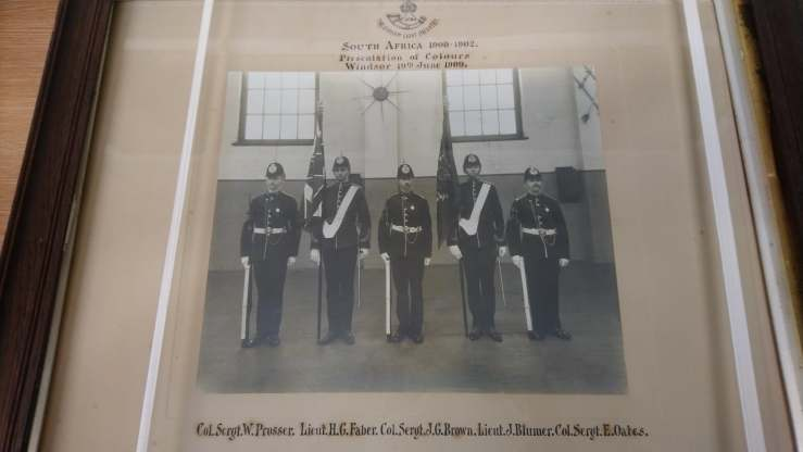 Photo showing presentation of colours at Windsor 19 June 1909.