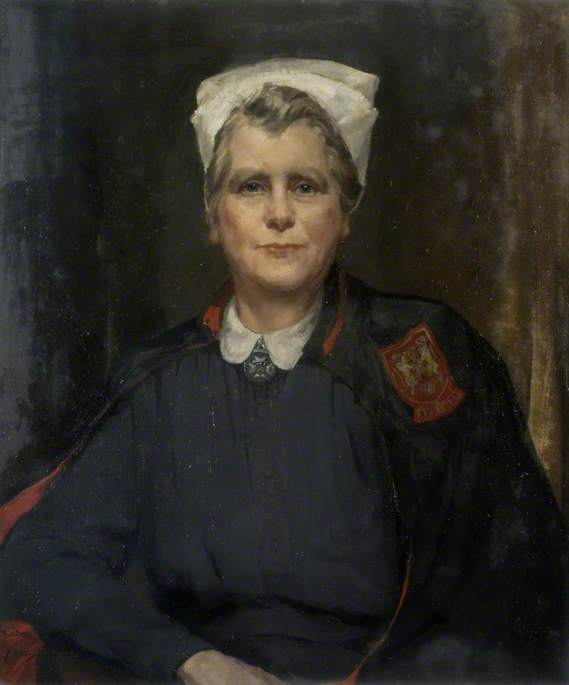 Burton, Alice Mary, 1893-1968; Miss C. E. Nelson (d.1954), Matron to Northampton General Hospital (1938-1954)