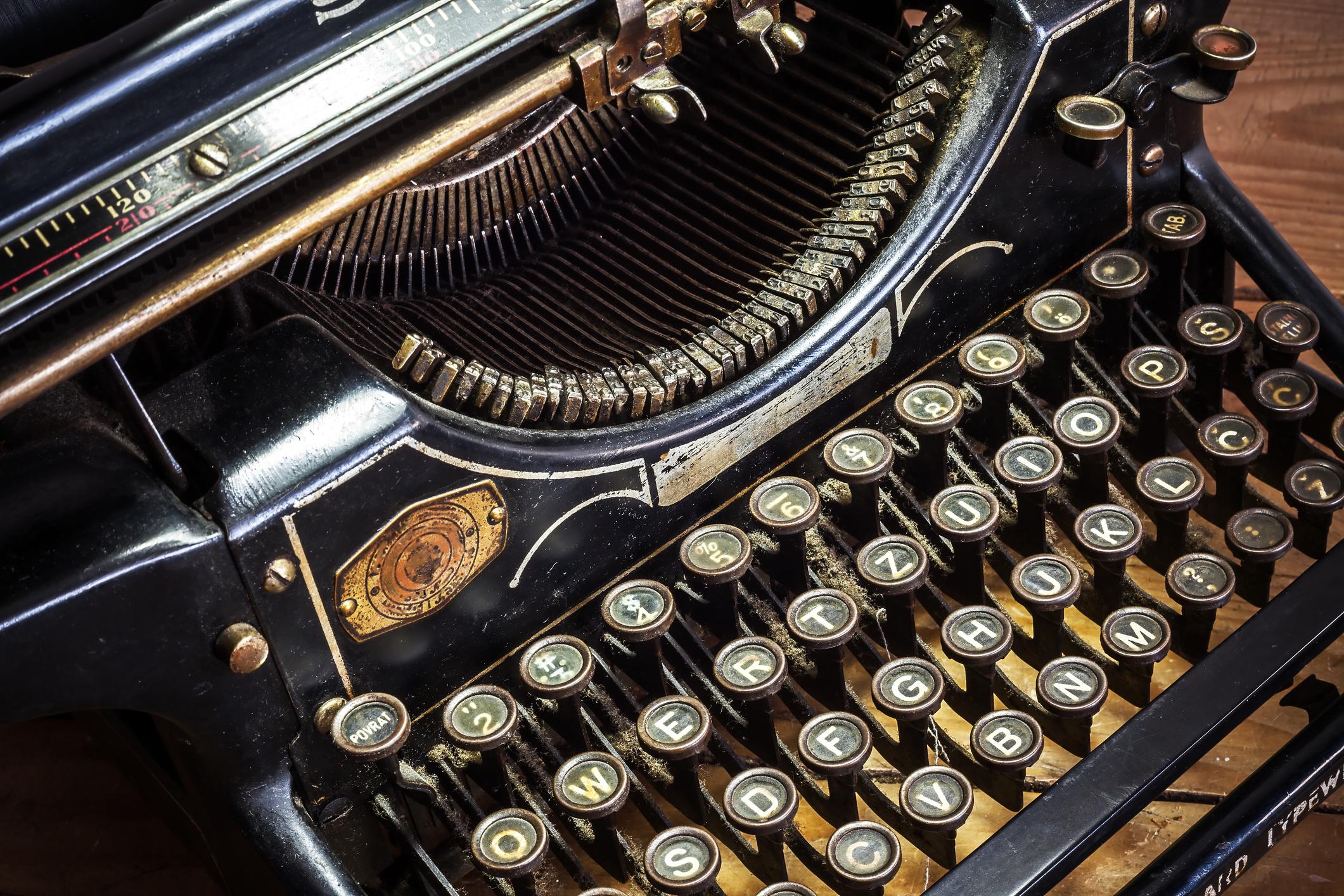 Vintage typewriter keyboard.